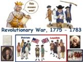 Revolutionary War Lesson - study guide state exam prep 2018 2019 update