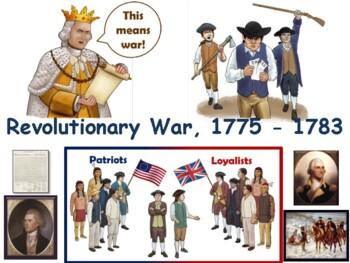 Revolutionary War Lesson - study guide state exam prep 2018 2019 update