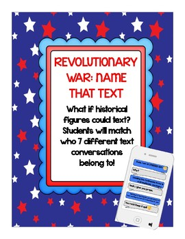 Revolutionary War Fun Activity: Name That Text! (VS 5)