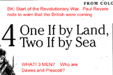 Revolutionary War Nonfiction Article Close Read