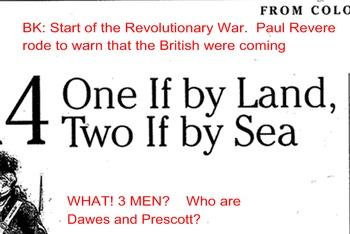 Revolutionary War Nonfiction Article Close Read