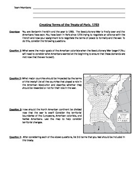 Revolutionary War Notes Page for Use with PowerPoint