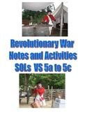 Revolutionary War Notes and Activities Virginia Studies SOLs 5a-5d