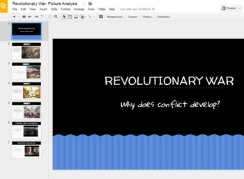 Revolutionary War Picture Analysis