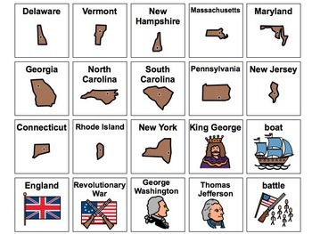 Revolutionary War Picture Cards
