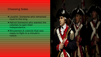 Revolutionary War Power Point