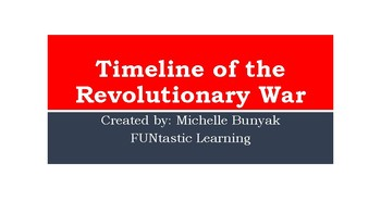 Revolutionary War Power Point / Timeline