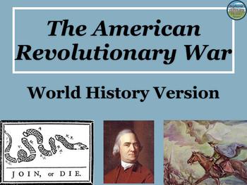 Revolutionary War Power Point for World History