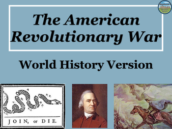 Revolutionary War Power Point for World History