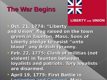 Revolutionary War PowerPoint