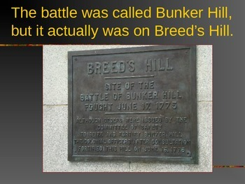 Revolutionary War PowerPoint Series-Battle of Bunker Hill