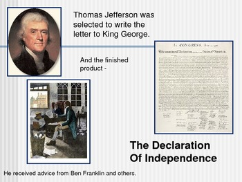 Declaration of Independence-Revolutionary War PowerPoint Series