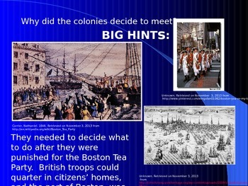 First Continental Congress in Philadelphia-Revolutionary War PowerPoint Series