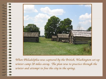 Valley Forge and York, PA-Revolutionary War PowerPoint Series
