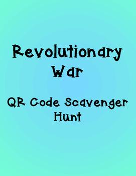 Revolutionary War QR Code Scavenger Hunt