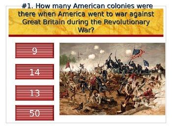 Revolutionary War Quiz