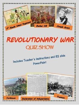 Revolutionary War Quiz Show PowerPoint