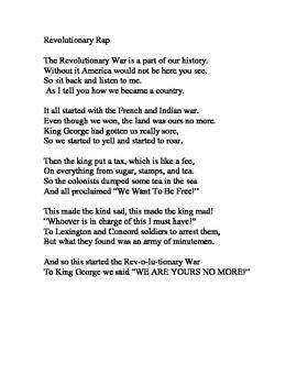 Revolutionary War Rap