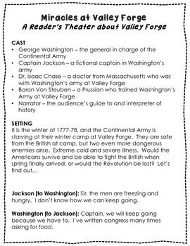 Revolutionary War Reader's Theater {Leveled Parts}
