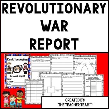 Revolutionary War Research Report Resource