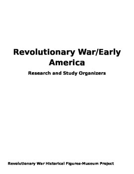 Revolutionary War Research and Quizzes