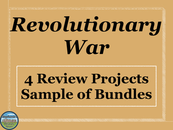 Revolutionary War Review Activities Mini Bundle