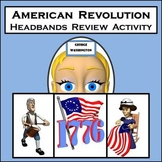 Revolutionary War Review Game - Based on HEADBANDS Game - 96 Review Cards