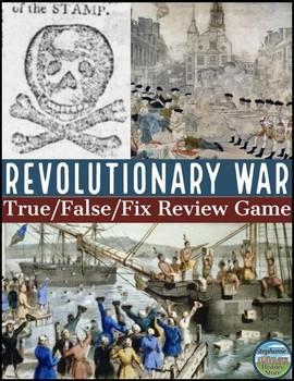 Revolutionary War Review Game