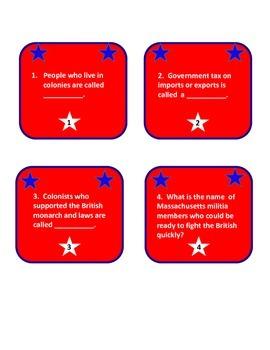 Revolutionary War Review! Let Freedom Ring Kaboom! Grades 4-6