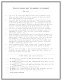 Revolutionary War Scrapbook Assignment Sheet