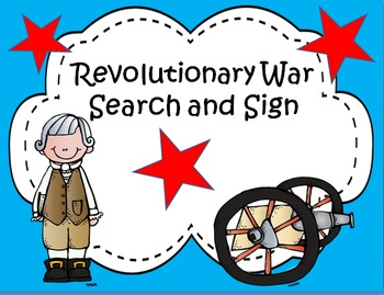 Revolutionary War Search and Sign