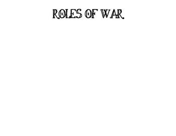 Revolutionary War Societal Roles Worksheet