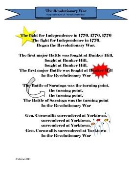 Revolutionary War Song