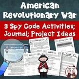 Revolutionary War Spy Codes Activity Bundle
