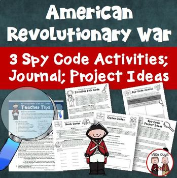 Revolutionary War Spy Codes Activity Bundle by Wise Guys | TpT