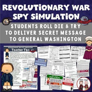 America Revolution Revolutionary War Spy Simulation