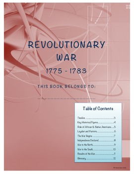 Revolutionary War Student Note Taking Booklet