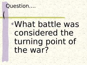 Revolutionary War Study Dry Erase Game