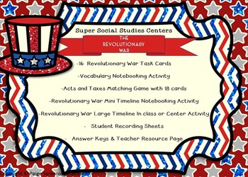 Revolutionary War Super Social Studies Centers Bundle