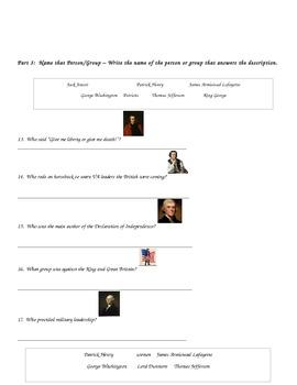 Revolutionary War Test