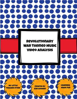 Revolutionary War Themed Music Video Analysis-FUN Activity!