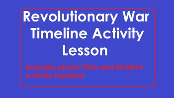 Revolutionary War Timeline Activity