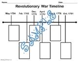 Revolutionary War Timeline (Cut & Match)