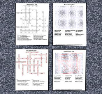 Revolutionary War Trading Cards, Bingo/Slideshow and Puzzle Combo