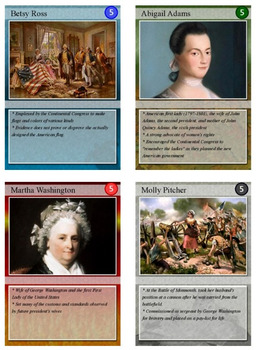 Revolutionary War Trading Cards, Bingo/Slideshow and Puzzle Combo