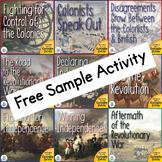 Revolutionary War US History Unit Articles of Confederation Activity Sample