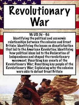 Revolutionary War - US History to 1865 Cornell Notes