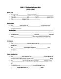 Revolutionary War (Unit 1) Guided Notes