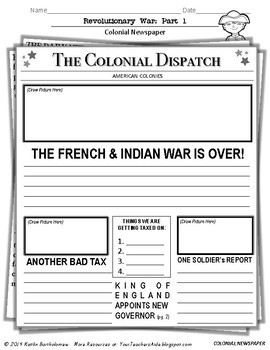 Revolutionary War Unit (Part 1) ---35 Pages of Resources!