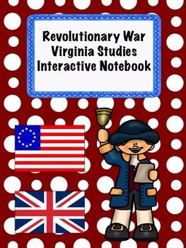 Revolutionary War Virginia Studies Interactive Notebook